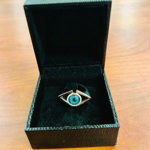 Evil eye ring from santorini Greece